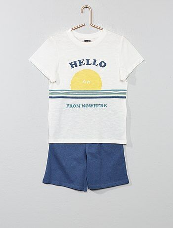 988741e77432e Soldes pyjama court enfant garçon, pyjashort garçon Vêtements garçon ...