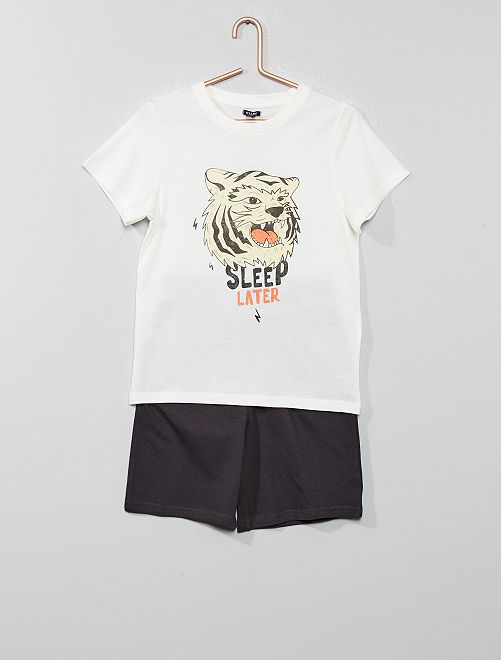 Pyjama court 'océan'                                                     blanc/bleu