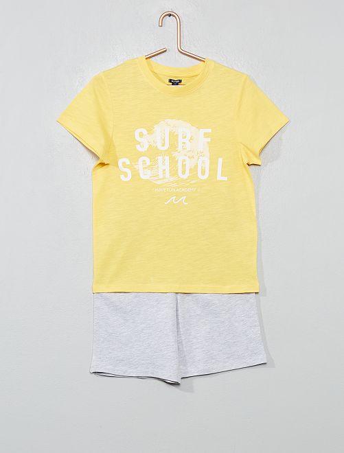 Pyjama court 'océan'                                                                 jaune/gris