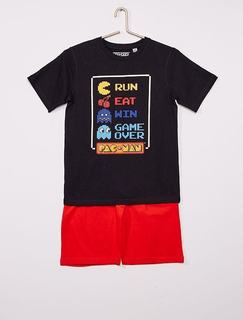 Pyjama court 'Pac-Man'                             noir/rouge