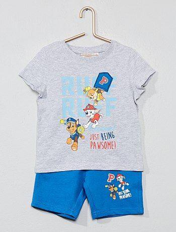 9cb80f1502157 Garçon 3-12 ans - Pyjama court 'Pat'Patrouille' - Kiabi