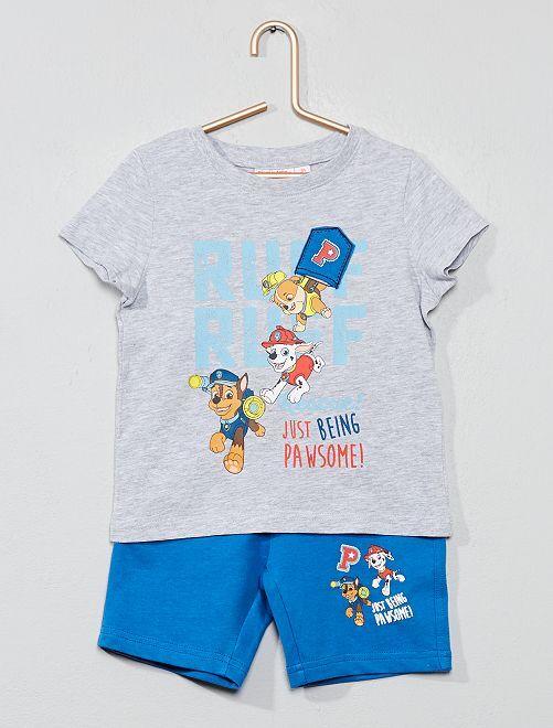 Pyjama court 'Pat'Patrouille'                             gris chiné/bleu Garçon