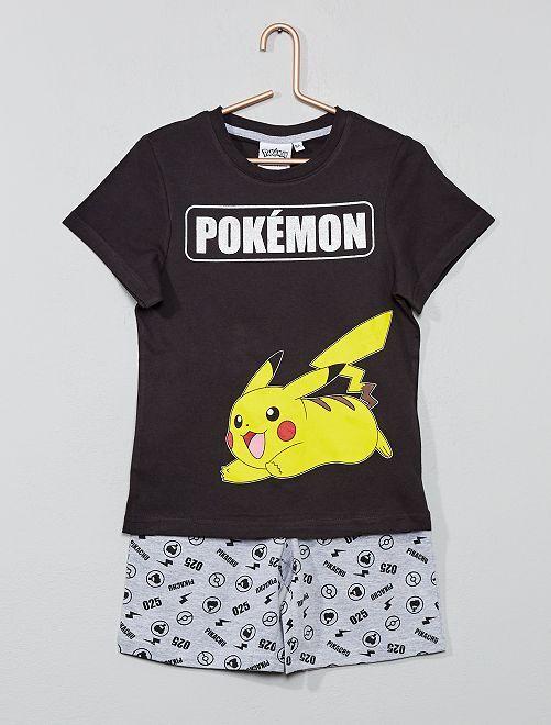 Pyjama court 'Pikachu'                             gris foncé Garçon
