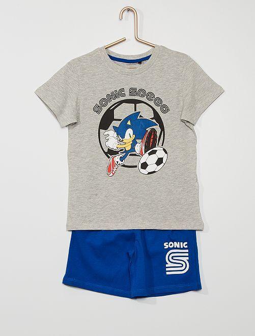 Pyjama court 'Sonic' 'Sega'                             GRIS