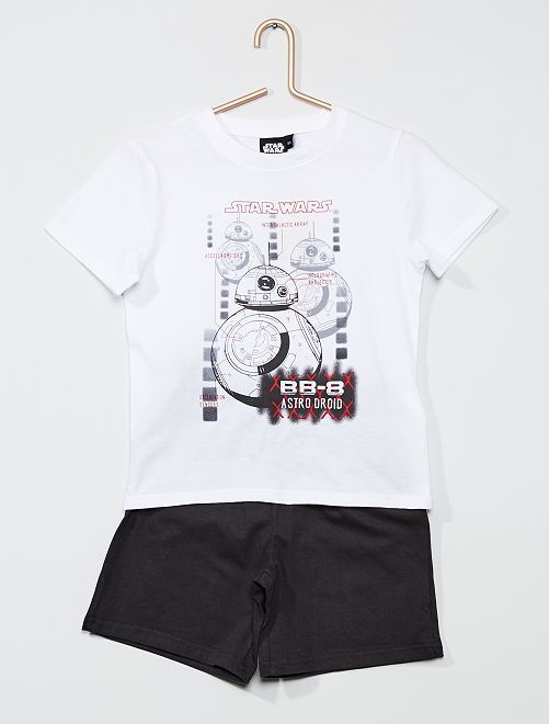 Pyjama court 'Star Wars'                                         blanc
