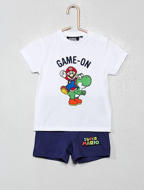 Pyjama court 'Super Mario'                             blanc