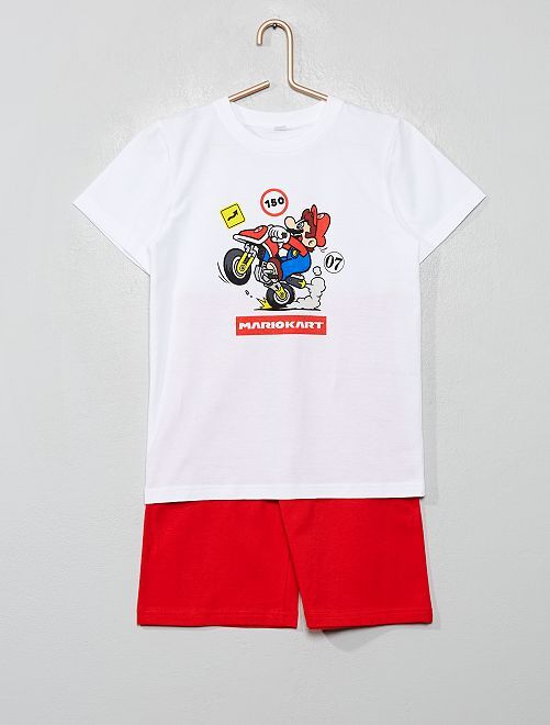 Pyjama court 'Super Mario'                             blanc/rouge