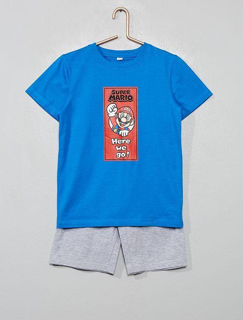 Pyjama court 'Super Mario'                             bleu/gris
