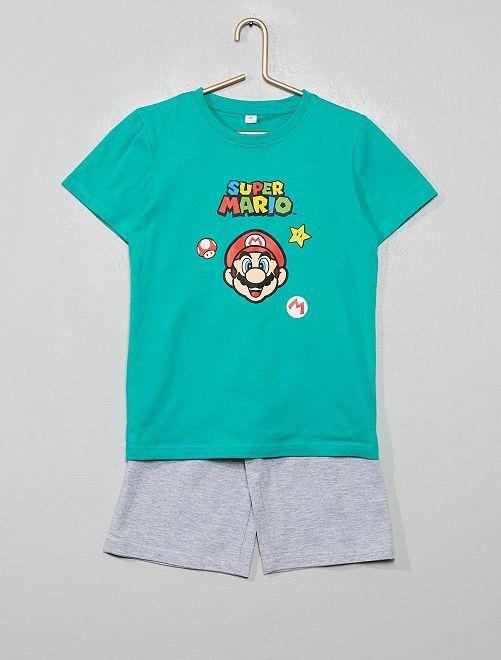 Pyjama court 'Super Mario'                             vert/gris