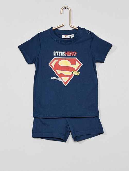 Pyjama court 'Superman'                             bleu marine Bébé garçon