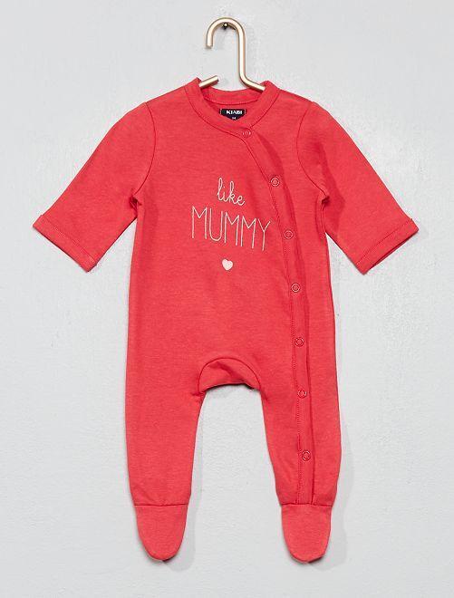Pyjama croisé imprimé                                         ROSE Bébé fille