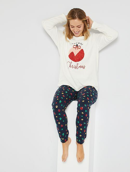 Pyjama de Noël                                         blanc