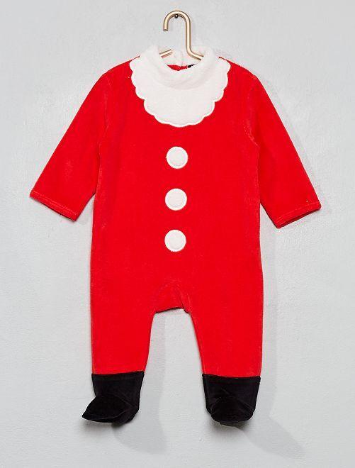 Pyjama de Noël en velours                             rouge