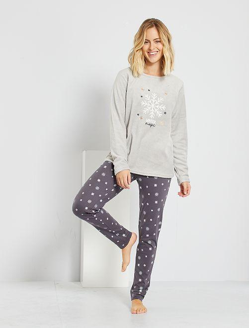 Pyjama de Noël                                         gris