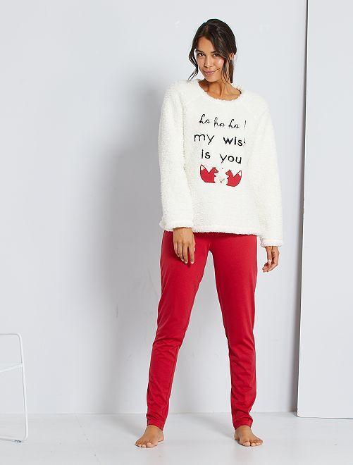 Pyjama de Noël                             rouge/écru