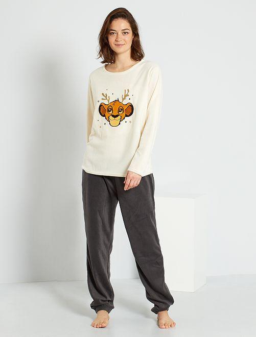 Pyjama 'Disney' + boîte cadeau                                                                 beige/gris
