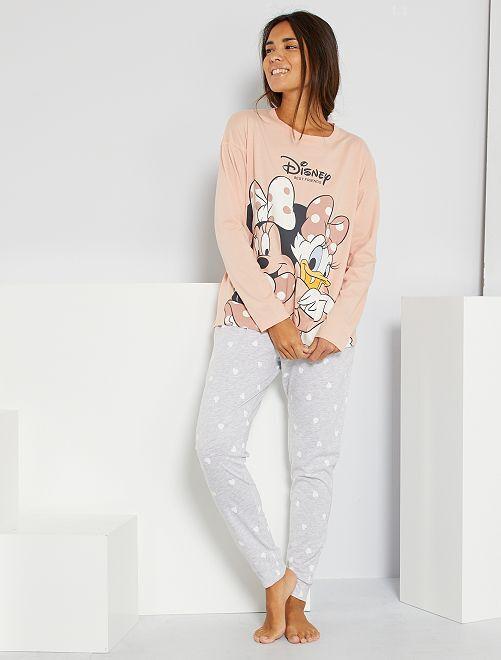 Pyjama 'Disney' éco-conçu                                                                 minnie rose/gris