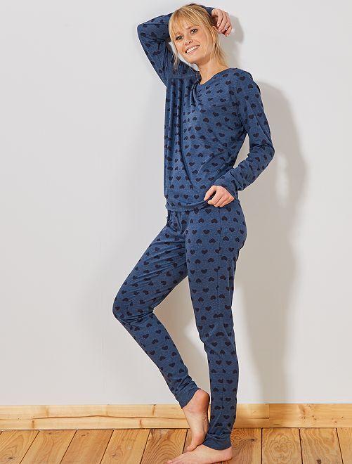 Pyjama 'éco-conception'                                                                                                                 bleu coeur