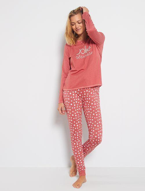 Pyjama 'éco-conception'                                                                                         rose