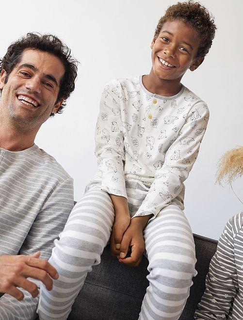 Pyjama éco-conçu                             écru
