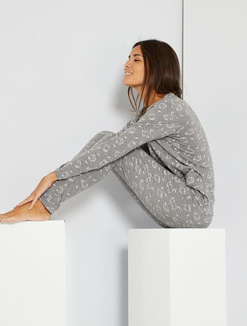 Pyjama éco-conçu                                                                 gris chiné