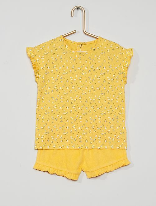 Pyjama éco-conçu                             jaune