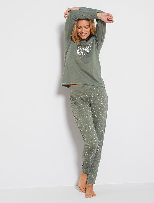 Pyjama éco-conçu                                                                 kaki
