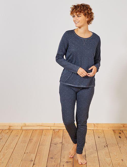 Pyjama éco-conçu                                                                             marine chiné
