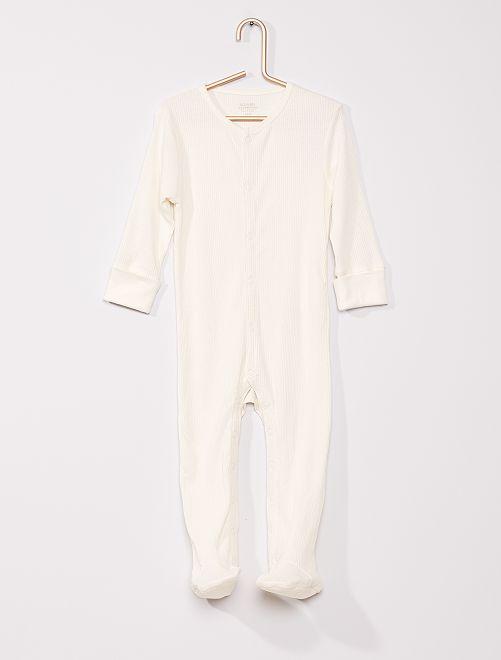 Pyjama en côte éco-conçu                             blanc