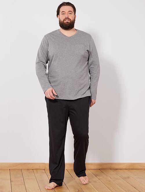 pyjama en coton grande taille homme kiabi 19 00. Black Bedroom Furniture Sets. Home Design Ideas