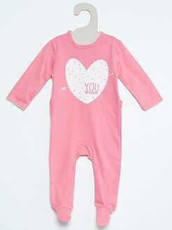Fille 0-24 mois Pyjama en coton imprimé fantaisie