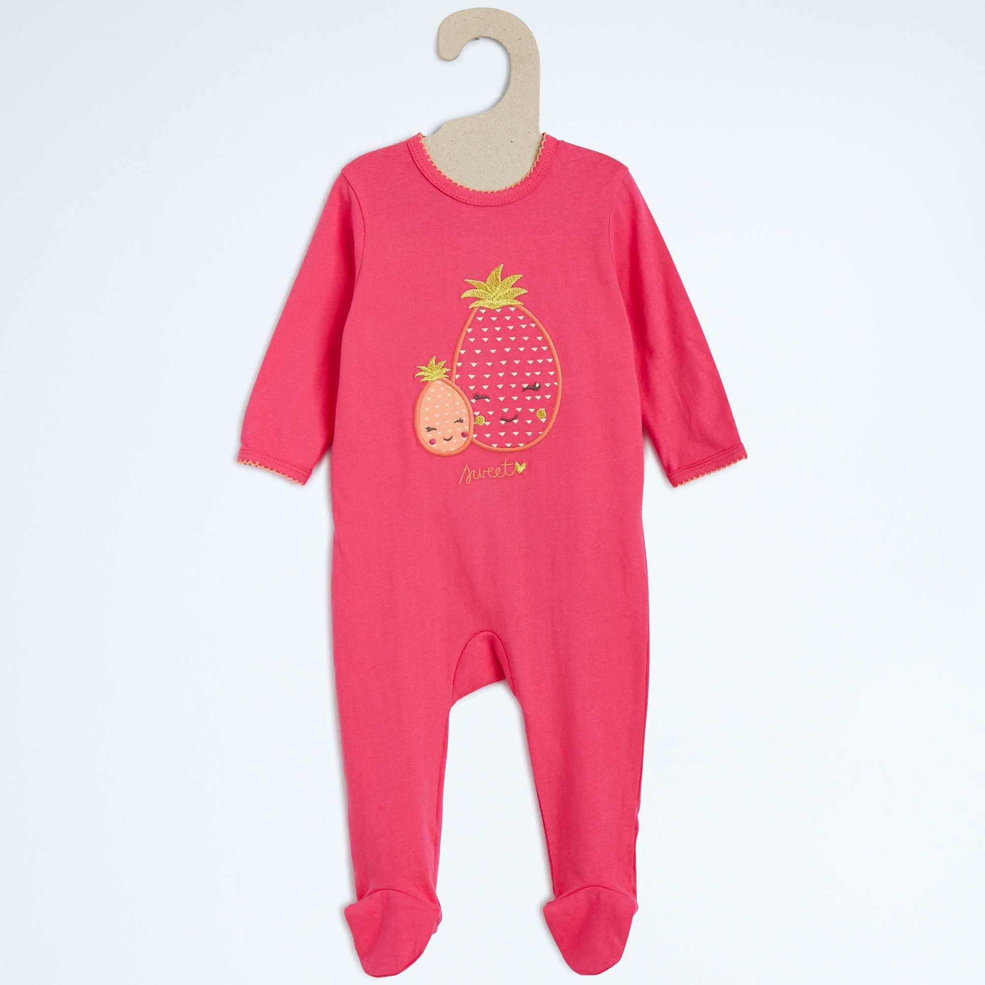 pyjama en coton b b fille rose kiabi 9 00. Black Bedroom Furniture Sets. Home Design Ideas