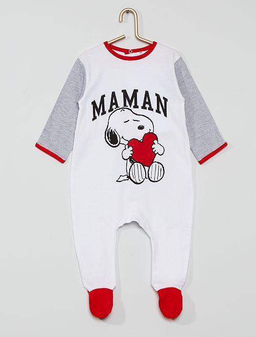 Pyjama en coton 'Snoopy'                             blanc