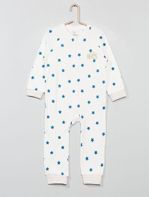 Pyjama en jersey                             blanc Bébé garçon