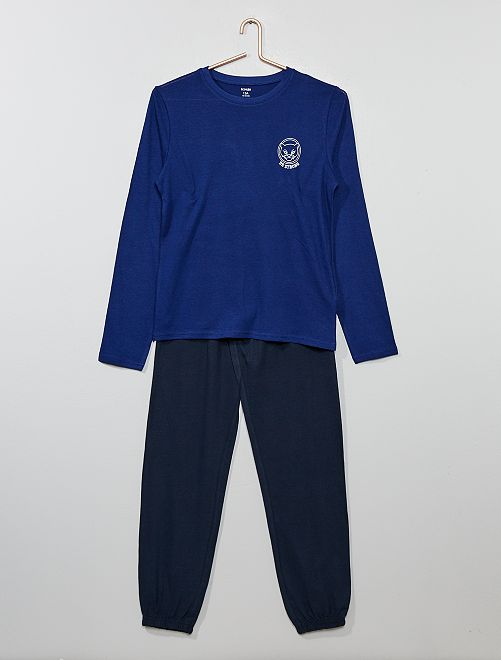 Pyjama en jersey                                         bleu