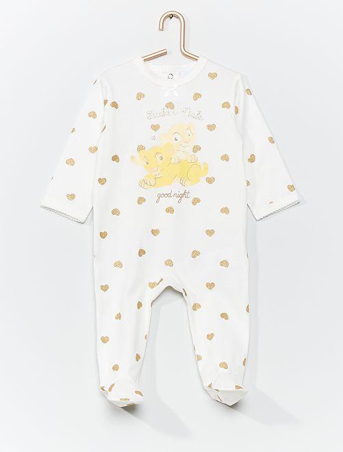 Pyjama en jersey 'Disney'                                                                 blanc/jaune