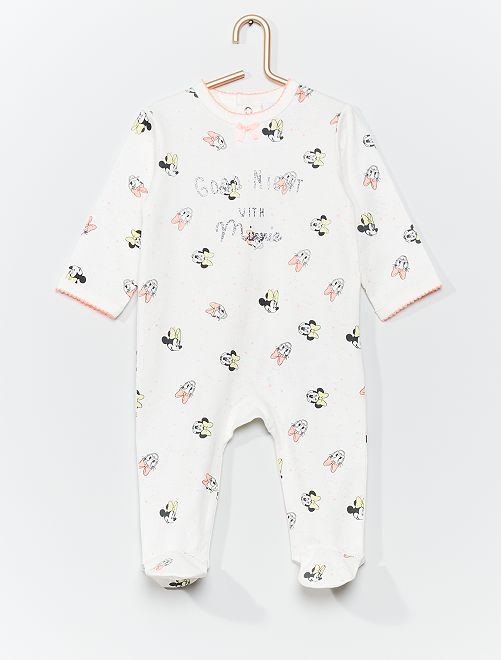 Pyjama en jersey 'Disney'                                                     blanc/rose