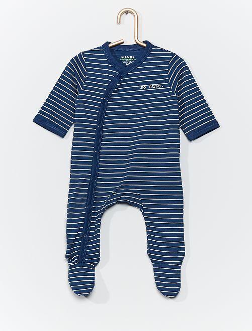 Pyjama en jersey éco-conçu                                                                                         bleu/rayé