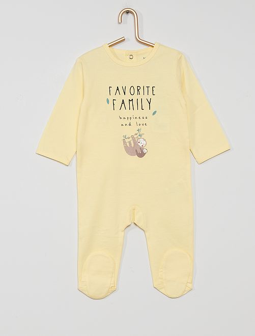 Pyjama en jersey 'éco-conçu'                                                                                                                                                                                                                                         jaune