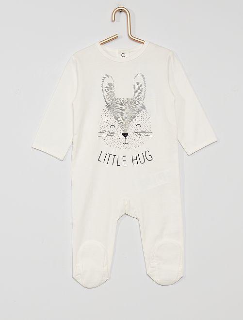 Pyjama en jersey 'éco-conçu'                                                                                                                                                                                                                                         lapin