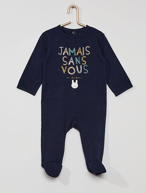 Pyjama en jersey 'éco-conçu'                                                                                                                                                                                                                                         marine