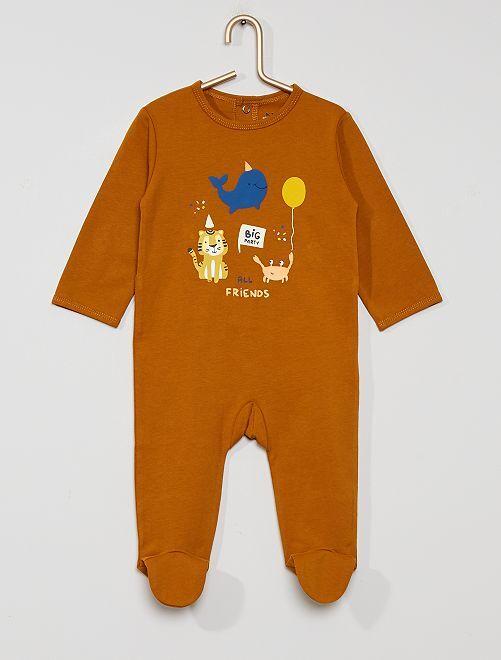 Pyjama en jersey 'éco-conçu'                                                                                                                                                                                                                                         marron