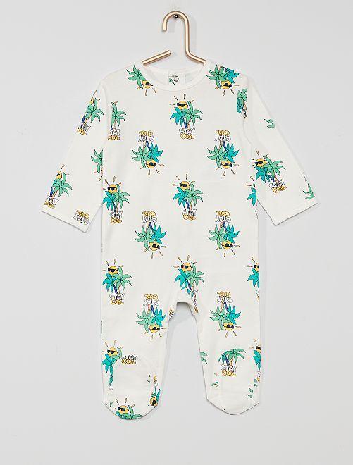 Pyjama en jersey 'éco-conçu'                                                                                                                                                                                                                                         palmier