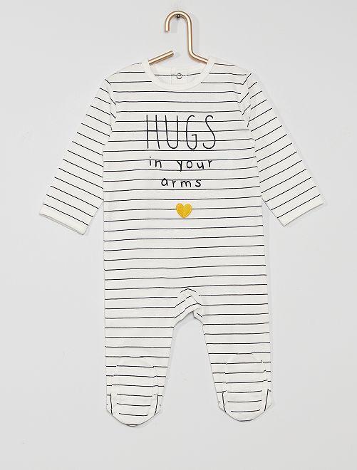 Pyjama en jersey 'éco-conçu'                                                                                                                                                                                                                                         rayé