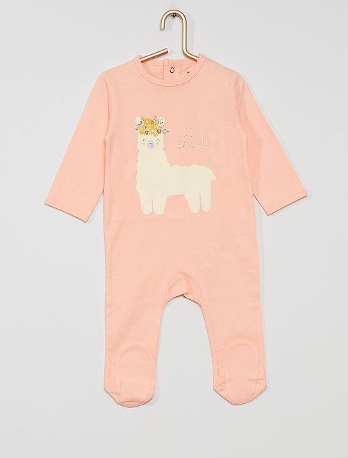 Pyjama en jersey 'éco-conçu'                                                                                                                                                                                                                                         rose lama