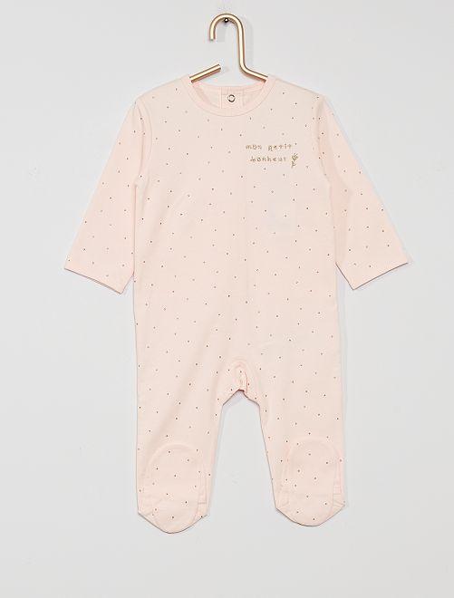 Pyjama en jersey 'éco-conçu'                                                                                                                                                                                                                                         rose pois