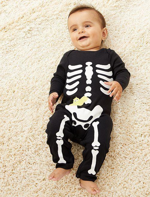 Pyjama en jersey 'Halloween'                             noir