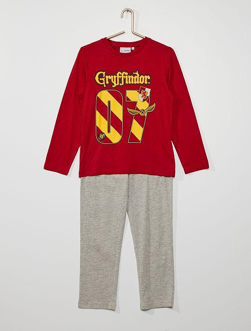Pyjama en jersey 'Harry Potter'                                         rouge