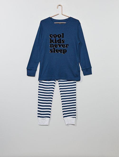 Pyjama en jersey imprimé                                                                                         bleu