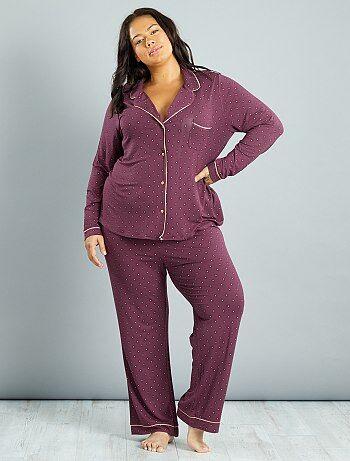 pyjamas grande taille femme kiabi. Black Bedroom Furniture Sets. Home Design Ideas